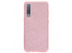 Coque Samsung Galaxy A7 2018 Glitter Protect-Rose