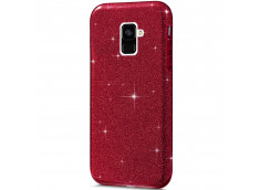 Coque Samsung Galaxy A8 2018 Glitter Protect-Rouge