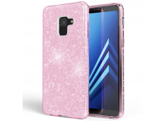 Coque Samsung Galaxy A8 2018 Glitter Protect-Rose