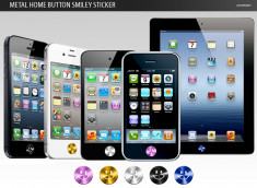 iPhone/iPad/iPod Touch Metal Home Button Smiley Sticker