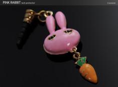 Bijou Capuchon Prise Jack  -  Pink Rabbit