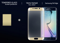 Film Protecteur Samsung Galaxy S6 Edge Plus en verre trempé-Or