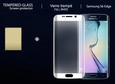 Film Protecteur Samsung Galaxy S6 Edge en verre trempé-Blanc