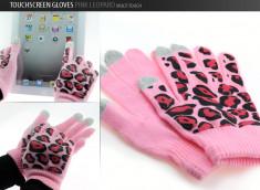 Gants tactiles Pink Leopard
