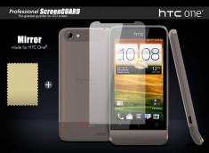 KIT1 film protecteur effet Miroir + 1 chiffon HTC One V