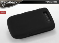 Coque BlackBerry Torch 9800 Satin-Noir