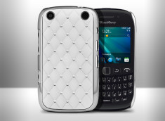 Coque Blackberry 9220/9320 Luxury leather-Blanc