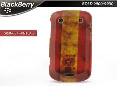Coque BlackBerry Bold 9900/9930 Drapeau Grunge - Espagne