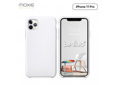 Coque iPhone 11 Pro Silicone Gel-Blanc