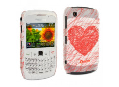 Coque Blackberry Curve 8520 Heart by Muvit +1 film protecteur