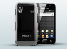 Coque Samsung Galaxy Ace Clear Back by Muvit + Protection Ecran