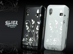 Coque Galaxy Ace Silver Garden