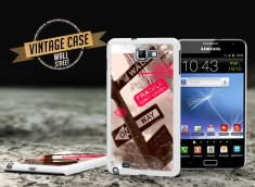 Coque Samsung Galaxy Note Vintage Case - Wall Street