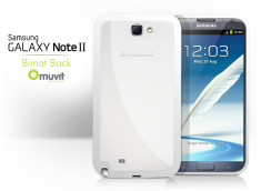 Coque Samsung Galaxy Note 2 Bimat Back Case Blanc by Muvit + 1 film protecteur
