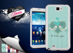 Coque Samsung Galaxy Note 2 Saint Valentin 2014 - I Love You - Birds