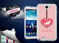 Coque Samsung Galaxy Note 2 Saint Valentin 2014 - Time for Love