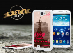 Coque Samsung Galaxy Note 2 Vintage Case - Liberty