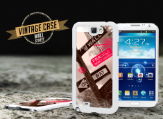 Coque Samsung Galaxy Note 2 Vintage Case - Wall Street