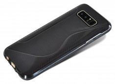 Coque Samsung Galaxy Note 8 Silicone Grip-Noir