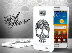 Coque Samsung Galaxy S2 Skull Flower