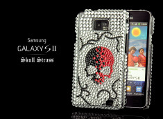 Coque Galaxy S2 i9100 Skull Strass