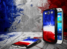 Coque Samsung Galaxy S3 Drapeau France Grunge