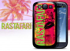 Coque Samsung Galaxy S3 Lips Flag - Rastafari