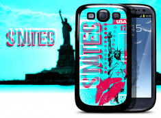 Coque Samsung Galaxy S3 Lips Flag - USA