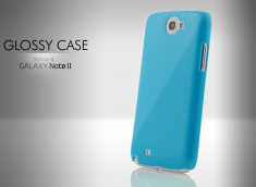 Coque Samsung Galaxy Note 2 Glossy Case-Bleu