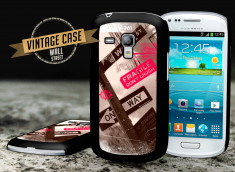 Coque Samsung Galaxy S3 mini Vintage Case - Wall Street
