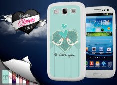 Coque Samsung Galaxy S3 Saint Valentin 2014 - I Love You - Birds