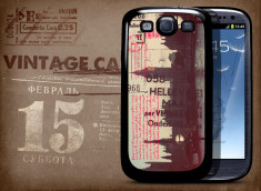 Coque Galaxy S3 Vintage Case - Kisses from London