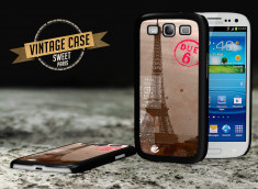 Coque Galaxy S3 Vintage Case - Sweet Paris