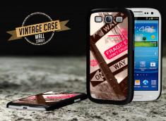 Coque Samsung Galaxy S3 Vintage Case - Wall Street