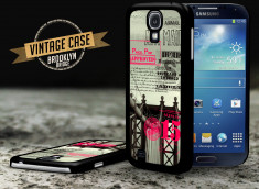 Coque Samsung Galaxy S4 Vintage Case - Brooklyn Bridge