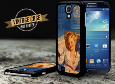 Coque Samsung Galaxy S4 Vintage Case - Hot Letter Pin Up