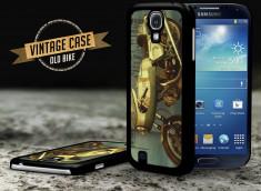 Coque Samsung Galaxy S4 Vintage Case - Old Motorbike