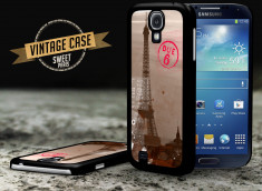 Coque Samsung Galaxy S4 Vintage Case - Sweet Paris