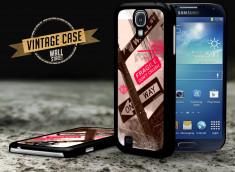 Coque Samsung Galaxy S4 Vintage Case - Wall Street