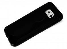 Coque Samsung Galaxy S7 Edge Silicone Grip-Noir