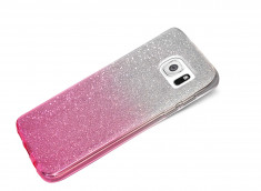 Coque Samsung Galaxy S6 Edge Glitter Wave-Rose