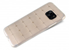 Coque Samsung Galaxy S7 Edge Flex Clear Square