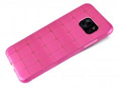 Coque Samsung Galaxy S7 Edge Flex Pink Square