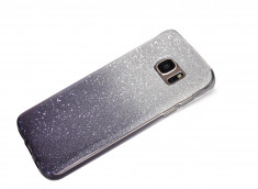 Coque Samsung Galaxy S7 Edge Glitter Wave-Noir