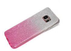 Coque Samsung Galaxy S7 Edge Glitter Wave-Rose