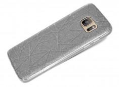 Coque Samsung Galaxy S8 Glitter Triangle-Argent