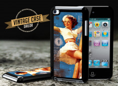 Coque iPod Touch 4 Vintage Case - Sailor Pin Up
