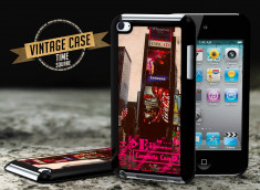 Coque iPod Touch 4 Vintage Case - Time Square