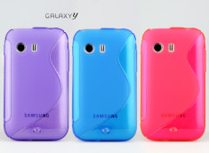 Coque Samsung Galaxy Y Silicone Grip Color