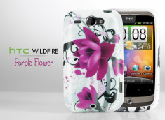 """Coque HTC Wildfire G8 """"Purple Flower"""""""